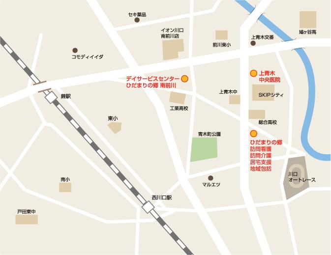 上青木中央医院 地図